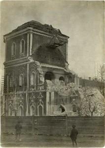 Разрушение Сергиевской церви в 1929 году