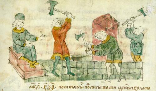 Строительство Успенского собора во Владимире