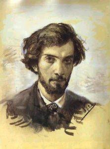 "Исаак Левитан ""Автопортрет"" 1880 г."