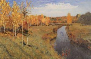 Золотая осень, Исаак Левитан, 1895 год
