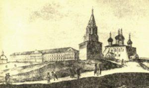 Здание присутственных мест во Владимире гравюра